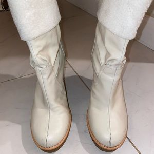 Marc Jacobs Leather/Fur Ankle Boots